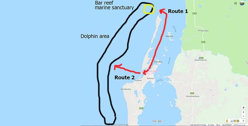 Dolphin Watching Route Kalpitiya